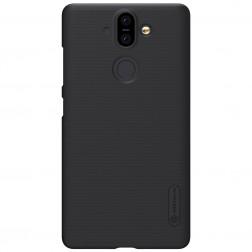 """Nillkin"" Frosted Shield futrālis - melns + ekrāna aizsargplēve (Nokia 8 Sirocco)"