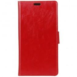 Atvēramais maciņš, grāmata - sarkans (Nokia 8 Sirocco)