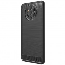 """""""Carbon"""" cieta silikona (TPU) apvalks - melns (Nokia 9 PureView)"""