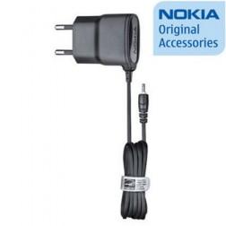 """""""Nokia"""" sienas lādētājs ar vadu (2 mm.) - melns"""