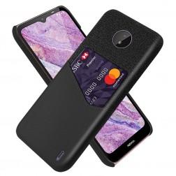"""KSQ"" Shell ādas apvalks - melns (Nokia C10 / C20)"