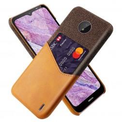 """KSQ"" Shell ādas apvalks - brūns (Nokia C10 / C20)"