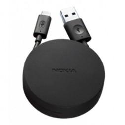 """""""Nokia"""" micro USB vads ar futlāri - melns (1,2 m.)"""