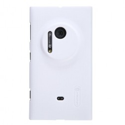 """""""Nillkin"""" Frosted Shield futrālis - balts + ekrāna aizsargplēve (Lumia 1020)"""