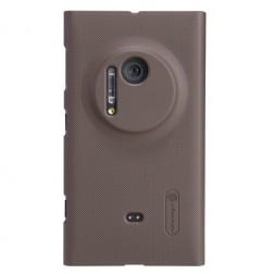 """""""Nillkin"""" Frosted Shield futrālis - brūns + ekrāna aizsargplēve (Lumia 1020)"""