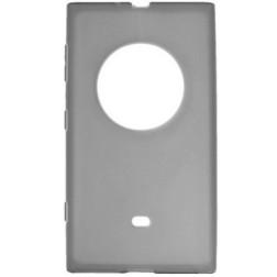 Cieta silikona (TPU) apvalks - pelēks (Lumia 1020)