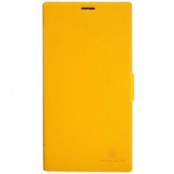 """""""Nillkin"""" Fresh atvēramais maciņš - dzeltens (Lumia 1520)"""