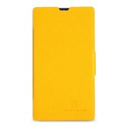 """""""Nillkin"""" Fresh atvēramais futrālis - dzeltens (Lumia 520)"""