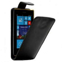 Klasisks atvēramais futrālis - melns (Lumia 520)