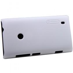 """""""Nillkin"""" Frosted Shield futrālis - balts + ekrāna aizsargplēve (Lumia 520)"""