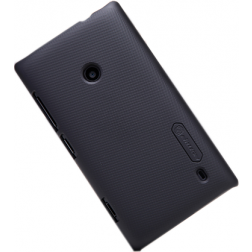 """Nillkin"" Frosted Shield futrālis - melns + ekrāna aizsargplēve (Lumia 520)"