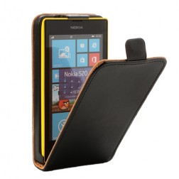 Atvēramais maciņš - melns (Lumia 520)