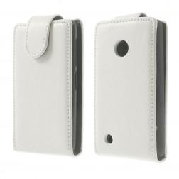 Klasisks atvēramais futrālis - balts (Lumia 530)