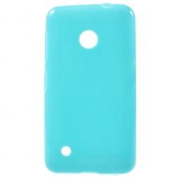"""Jelly Case"" cieta silikona futrālis - gaiši zils (Lumia 530)"