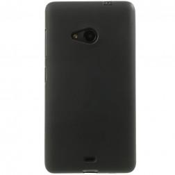 Cieta silikona (TPU) apvalks - melns (Lumia 535)