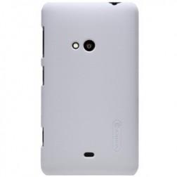 """""""Nillkin"""" Frosted Shield futrālis - balts + ekrāna aizsargplēve (Lumia 625)"""