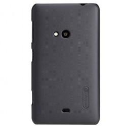 """Nillkin"" Frosted Shield futrālis - melns + ekrāna aizsargplēve (Lumia 625)"