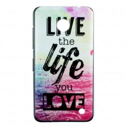 """""""Life"""" plastmasas futrālis - krāsains (Lumia 630 / 635)"""
