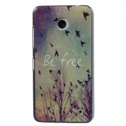 """""""Be Free"""" plastmasas futrālis - krāsains (Lumia 630 / 635)"""