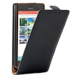 Klasisks atvēramais maciņš - melns (Lumia 730 / 735)