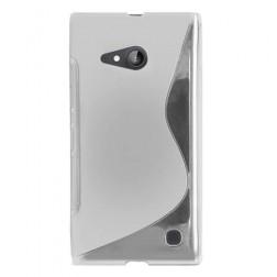 Cieta silikona (TPU) apvalks - dzidrs (Lumia 730 / 735)