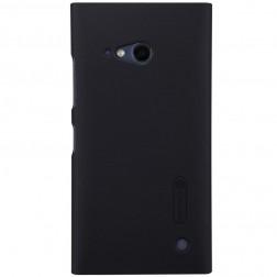 """Nillkin"" Frosted Shield futrālis - melns + ekrāna aizsargplēve (Lumia 730 / 735)"