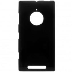 Cieta silikona (TPU) apvalks - melns (Lumia 830)
