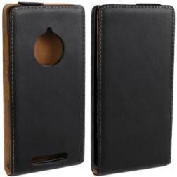 Klasisks atvēramais futrālis - melns (Lumia 830)