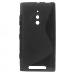 Cieta silikona futrālis - melns (Lumia 830)