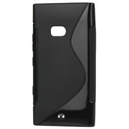 Cieta silikona futrālis - melns (Lumia 900)