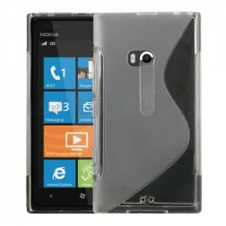 Cieta silikona futrālis - dzidrs (Lumia 900)