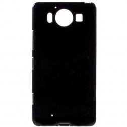 Cieta silikona (TPU) apvalks - melns (Lumia 950)