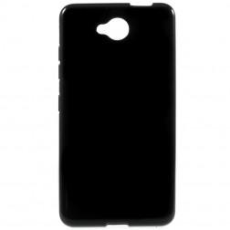 Cieta silikona (TPU) apvalks - melns (Lumia 650)