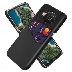 """""""KSQ"""" Shell ādas apvalks - melns (Nokia X20 / X10)"""