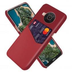 """""""KSQ"""" Shell ādas apvalks - sarkans (Nokia X20 / X10)"""
