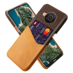 """KSQ"" Shell ādas apvalks - brūns (Nokia X20 / X10)"