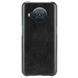 Soft Slim ādas apvalks - melns (Nokia X20 / X10)