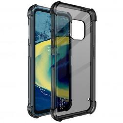 """""""Imak"""" pastiprinātas aizsardzības cieta silikona (TPU) dzidrs apvalks - pelēks + ekrāna aizsargplēve (Nokia XR20)"""