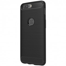 """""""Carbon"""" cieta silikona (TPU) apvalks - melns (OnePlus 5)"""
