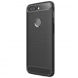 """""""Carbon"""" cieta silikona (TPU) apvalks - melns (OnePlus 5T)"""