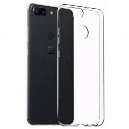 Cieta silikona (TPU) apvalks - dzidrs (OnePlus 5T)