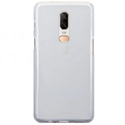 Cieta silikona (TPU) apvalks - dzidrs (OnePlus 6)