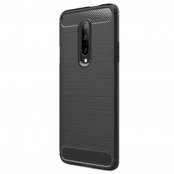 """""""Carbon"""" cieta silikona (TPU) apvalks - melns (OnePlus 7 Pro)"""