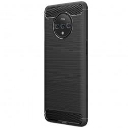 """""""Carbon"""" cieta silikona (TPU) apvalks - melns (OnePlus 7T)"""