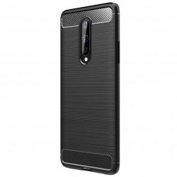"""""""Carbon"""" cieta silikona (TPU) apvalks - melns (OnePlus 8)"""