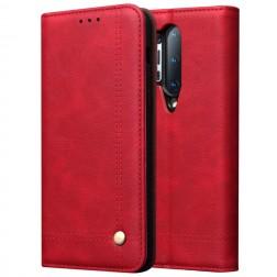 """""""Deluxe"""" atvēramais maciņš - sarkans (OnePlus 8 Pro)"""