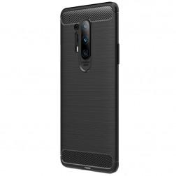"""""""Carbon"""" cieta silikona (TPU) apvalks - melns (OnePlus 8 Pro)"""