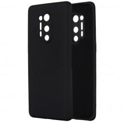"""Shell"" cieta silikona (TPU) apvalks - melns (OnePlus 8 Pro)"