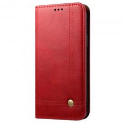 """""""Deluxe"""" atvēramais maciņš - sarkans (OnePlus 8T)"""