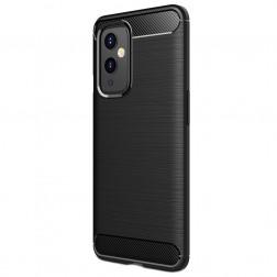 """""""Carbon"""" cieta silikona (TPU) apvalks - melns (OnePlus 9)"""